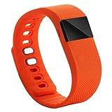 iMinker Bluetooth 4.0 Sport reloj de pulsera inteligente, soporte de banda Smart Fitness Activity Tracker, podómetro, contador de calorías, monitor de sueño para iPhone Samsung Android IOS teléfono (naranja)