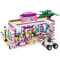 Webby Girl's Plastic Restaurant Corner Cafe Friends City Creator House Building Blocks, (Multicolour) - Set of 500