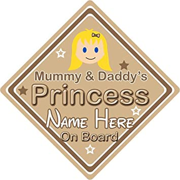Non Personalised Child//Baby On Board Emoji Car Sign ~ Mummy /& Daddy/'s Prince