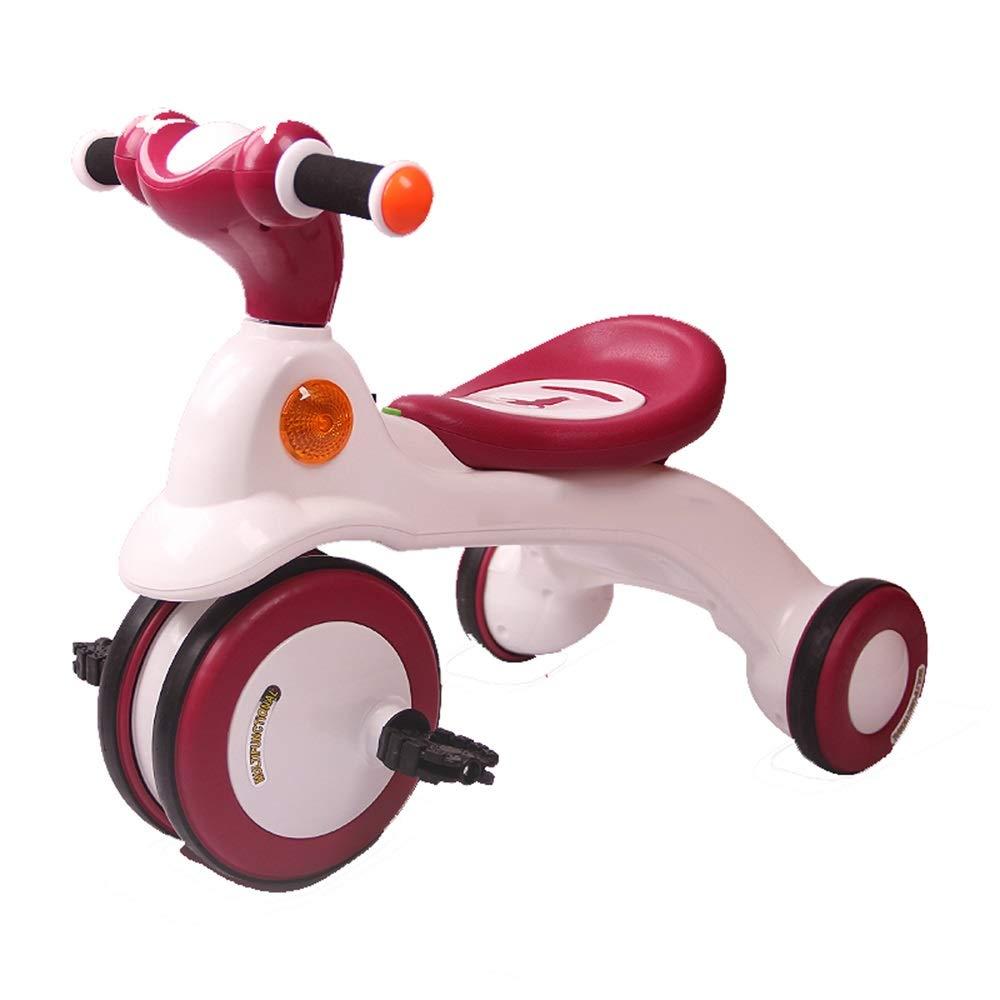 卸売 Axdwfd 子ども用自転車 Axdwfd B07PZ379Q2 子供の三輪車付き音楽子供ペダル自転車1-6年古い積載重量50キログラムベビーカー男の子女の子おもちゃの車 子ども用自転車 Burgundy B07PZ379Q2, ヤツオマチ:bea6b42c --- senas.4x4.lt