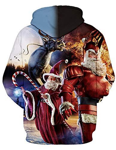 Amoma Christmas Uomo Cappuccio Felpa Con Santa Claus rPBxUrw