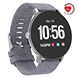 YoYoFit Smart Fitness Watch with Heart Rate Monitor, Waterproof Fitness Activity Tracker Step Counter with Music Player Control, Customized Face Look GPS Pedometer Watch for Women Men (Gridelin)