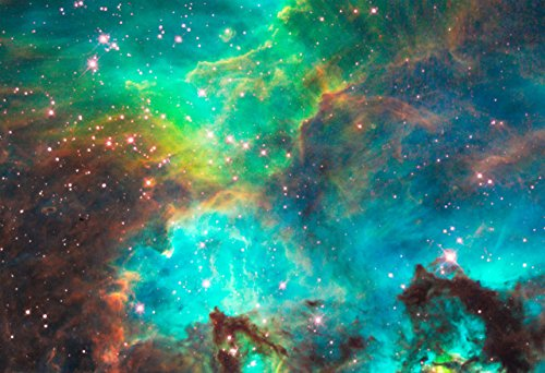 Star Cluster NGC 2074 in the Large Magellanic Cloud Hi Gloss Space Poster Fine Art Print by New Horizon Aviation, LLC