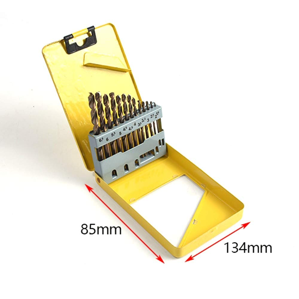 Metric Drill Bit Set 13 Pcs Tap and Die Set Bearing Steel Tools Titanium Coated with Metal Carrying Case
