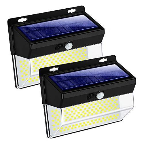 chollos oferta descuentos barato 262 Luces solares LED para exteriores 3 modos de sensor de movimiento inalámbrico luces solares superbrillantes IP65 resistente al agua 270 gran angular para jardín patio pasillo calzada 2 pack