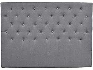 habitatetjardin Cabecero de cama acolchado 160 cm DÉCO en tela - Gris