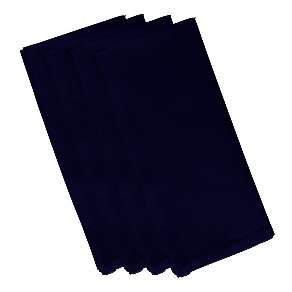 4 Piece Spring Navy Dinner Napkin, (Set Of 4), Solid Pattern, Classic And Contemporary Style, Square Shape, Good Qualitie, Everyday Or Special Occasions, Decorative, Cotton Material, Royal Blue