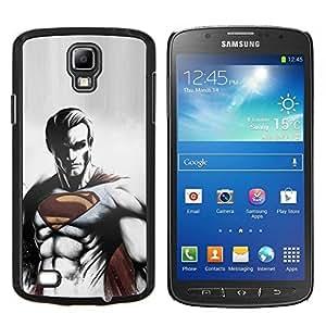 Qstar Arte & diseño plástico duro Fundas Cover Cubre Hard Case Cover para Samsung Galaxy S4 Active i9295 (Enfriar oscuro Superhéroe Super Man)