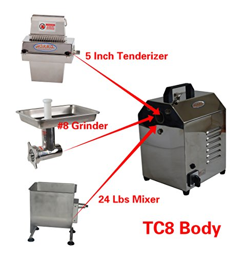 Hakka Meat Processing Machines Commercial Multi-functional Stainless Steel Electric Meat Processor Equipments (TC8-MTS527-FME01)