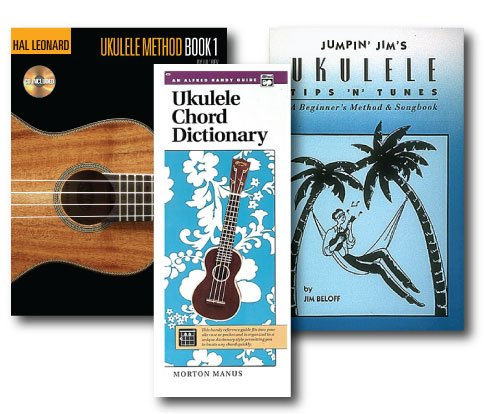 Ukulele Learner's Pack with CD - 3 Book Set and CD- Includes Alfred's Handy Guide Ukulele Chord Dictionary and Jumpin' Jim's Ukulele Tips 'N' Tunes and Hal Leonard Ukulele Method Book 1 with (Jumpin Jims Ukulele Tips)