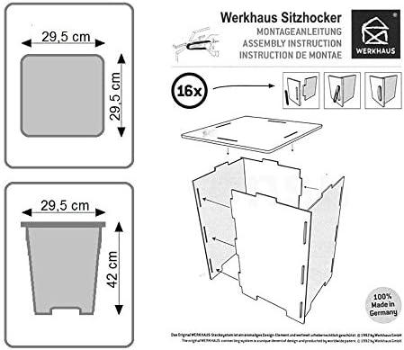 Werkhaus Design Produktion Photohocker Bücherregal Hocker      braun 29,5 x 29