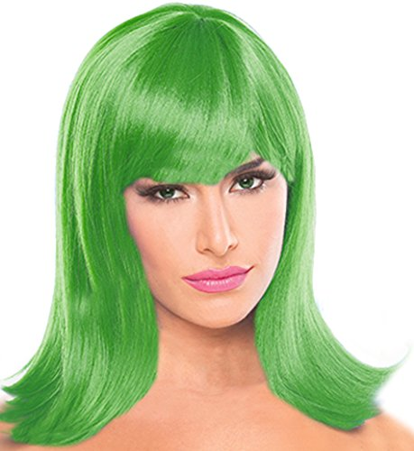 Disgust Costume Women (Green Wigs for Women Disgust Wig Green Wig For Kids Green Disgust Costume Wig)