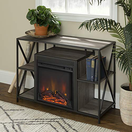 Cheap WE Furniture AZ40FPXFJGW Fireplace TV Stand 40