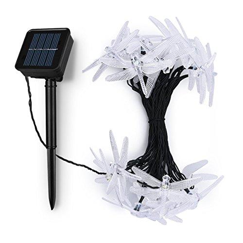 Landscape Lighting Black Friday : Solar string lights litom led dragonfly shape with