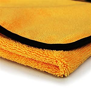 """Real Clean - Professional Grade Premium Microfiber Towels Chemical and Water Safe Material, Gold 16"""" x 16"""" (Pack of 12)"""