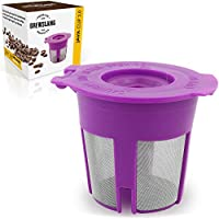 Refillable/Reusable KCup Filter for Keurig 2.0: K200, K225, K250, K300, K325, K350, K400, K425, K450, K500, K525, K550, K600, K650, K675 Series and 1.0 Single Brewer Coffeemakers by Brewslang