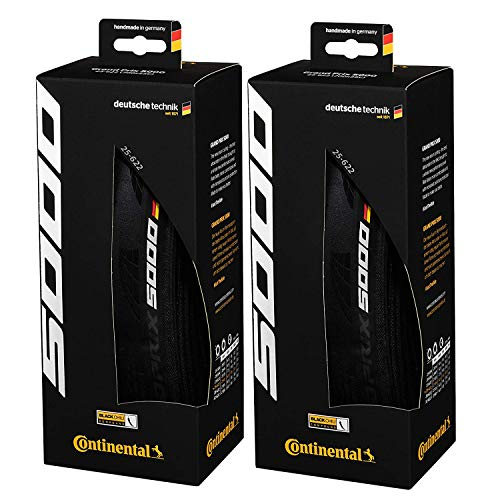 Continental Grand Prix 5000 Performance Bike Tire Set of 2 (700 x 25, Tubeless