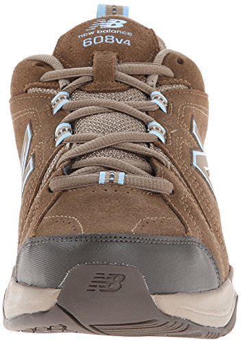 New Balance Women's WX608v4 Grey/Pink Sneaker 10 2A - Narrow Brown itRGtOIBC2