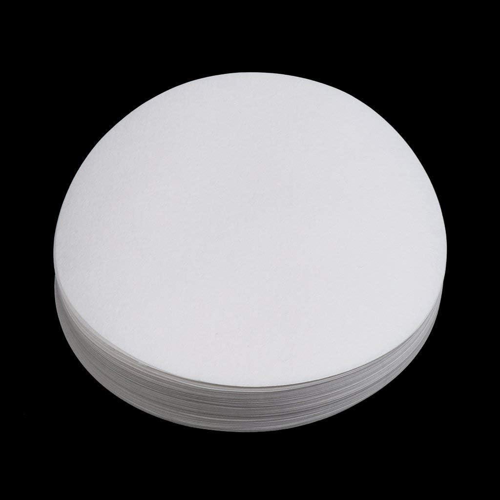 Round Quantitative Filter Paper Laboratory Filtration Lab Supplies 30um-50um 100pcs 15cm White AOD