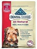 Blue Buffalo Blue Regular Bones Dental Chews (Pack of 2, 12-oz bags)
