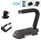 Micnova CC-VH01 Shape flash Bracket holder Video Handle Handheld Stabilizer for Skateboarding Canon Nikon Sony DSLR SLR Camera Mini DV Camcorder Gopro Hero Action iPhone 8 8 plus 7 7 plus Smartphone