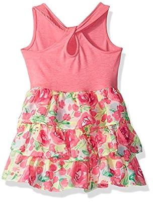 The Children's Place Baby-Girls' Sweet Li'l Sleeveless Knit to Woven Dress