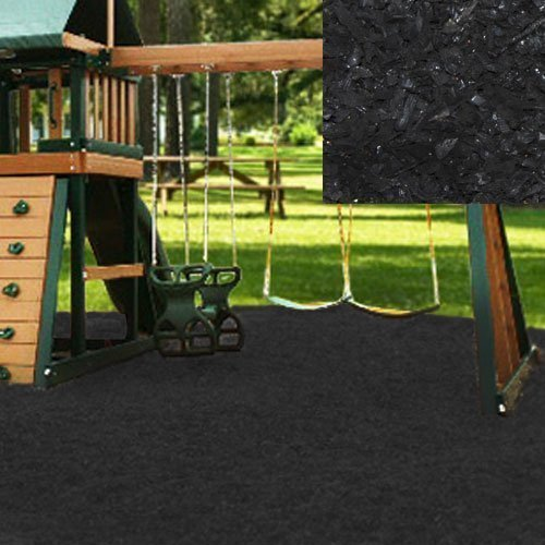 - KIDWISE Swing Set Playground Rubber Mulch 75 Cu.Ft. Pallet-Black