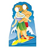 Surfer Couple Stand-In - Advanced Graphics Life Size Cardboard Standup