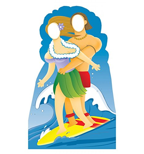 Surfer Couple Life-Size Cardboard Standup