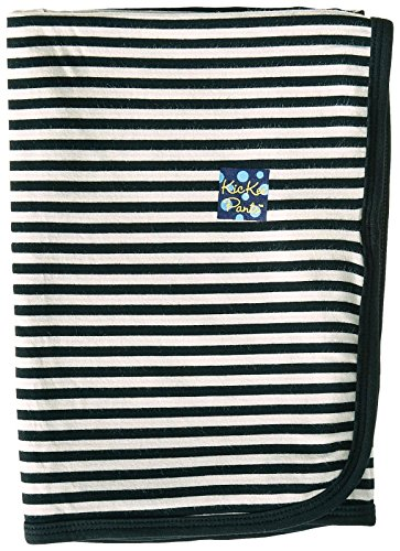 KicKee Pants Swaddling Blanket, Midnight/Natural Stripe