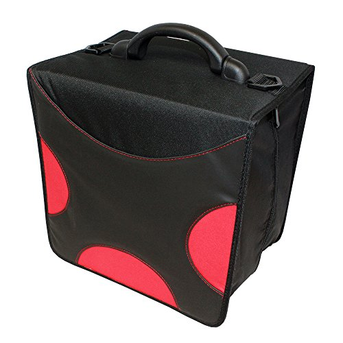 LINKYO 520 Disc Large Size, Heavy Duty CD / DVD Wallet Case (Red) - 3 Ring Cd Holder