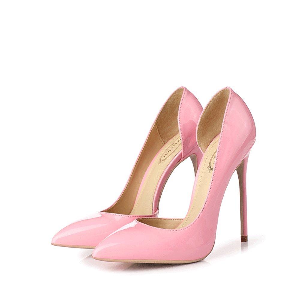 Bien con zapatos de tacón alto de 12 CM ( Color : Pink , Tamaño : 35 ) 35|Pink