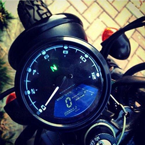 AmerStar Universal Motorcycle LCD Digital 12000RPM Tachometer Speedometer Odometer Gauge