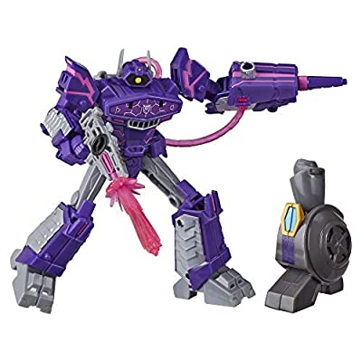 Transformers Toys Cyberverse Deluxe Class Shockwave Action Figure, Shock Blast Attack Move and Build-A-Figure Piece, for Kids Ages 6 and Up, 5-inch: Toys & Games