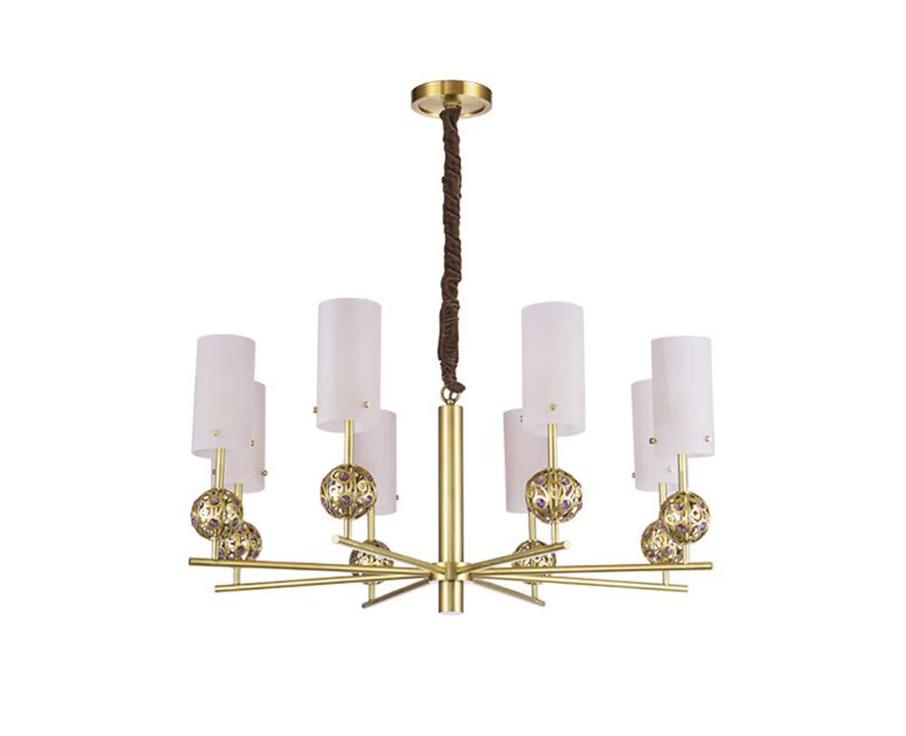 Amazon.com: Lámpara colgante de cristal y cristal de latón ...