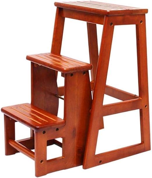 XITER Escalera Plegable de Madera Escalera Escaleras domésticas Sillas de Escalera Silla de Comedor portátil Multiusos y estantes Herramientas de jardín for el hogar (Color : Wood): Amazon.es: Hogar