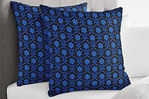 S4Sassy Marrón Terciopelo Floral Cojines Decorativos Fundas