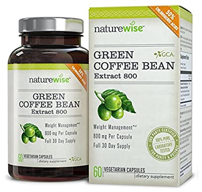 NatureWise Green Coffee Bean Extract 800 with GCA Natural Weight Loss Supplement,