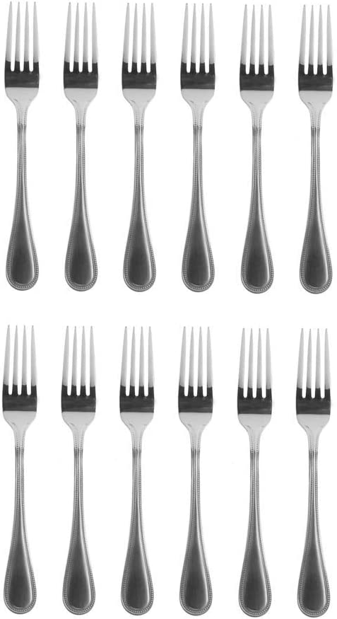"""2 Towle Beaded Antique Stainless 18//10 Dinner Forks 8 1//4/"""" China"""