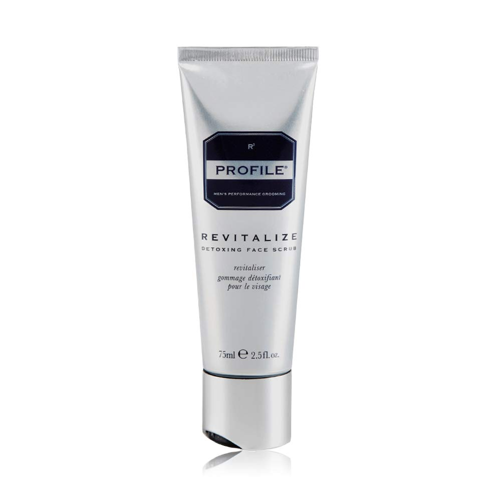Profile REVITALIZE Detoxing Face Scrub - Skin Care For Men, Anti Aging Exfoliating Face Wash - 2.5oz