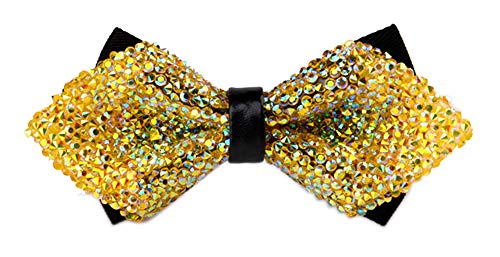 Men Yellow Gold Adult Ties Yourself Kids Bow Ties for Wedding Party Fancy Bowtie