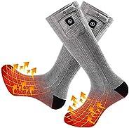 Upgraded Heated Socks Men Women,7.4V 2200MAH Electric Rechargeable Battery Heating Socks for Hunting Fishing C