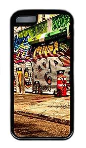 iPhone 5C Case graffiti street TPU iPhone 5C Case Cover Black