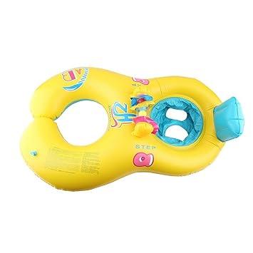geshiglobal Anillo Flotador Hinchable para Mamá y bebé, Amarillo: Amazon.es: Deportes y aire libre