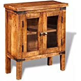 vidaXL Solid Rough Mango Wood Small Cabinet Cupboard Storage Unit Home Furniture