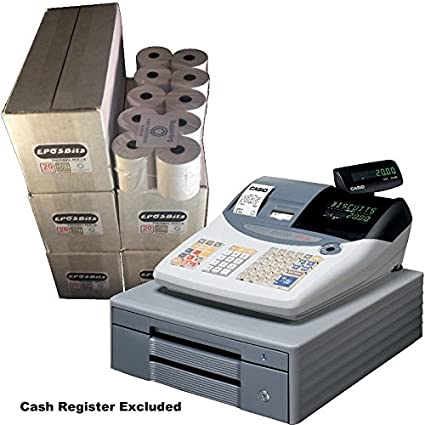 eposbits® marca rollos para caja registradora Casio TE-2000 TE2000 te 2000 – 100 rollos: Amazon.es: Oficina y papelería