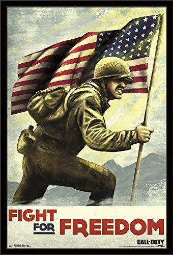 Trends International Framed Poster Call of Duty: Wwii-Fight, 24.25