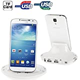 Iphone Case Cover, OTG Smart Multi-function Combo Charger Dock + USB 2.0 Card Reader for Samsung Galaxy SIV / SIV mini / SIII / Note / Other Mobile Phones, Support SD / MS / M2 / TF / MMC Card / USB Devices Case Mobile ( Color : White )