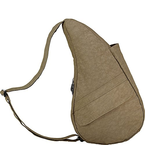 AmeriBag Distressed Nylon Bag, Taupe, Extra Small (Small Nylon Distressed Healthy)