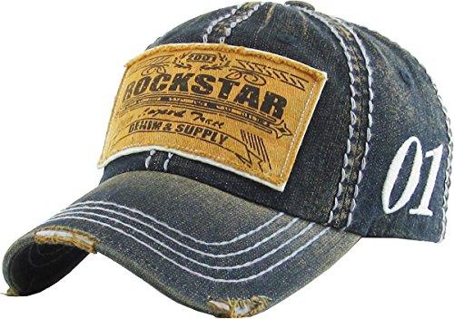 Era Vintage Hat (KBVT-577 DDM Fashion Vintage Baseball Cap Distressed Washed Dad Hat Adjustable)
